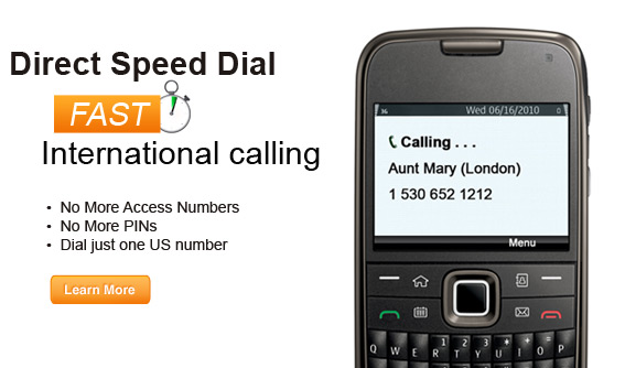 Direct Speed Dial for Prepaid Long Distance